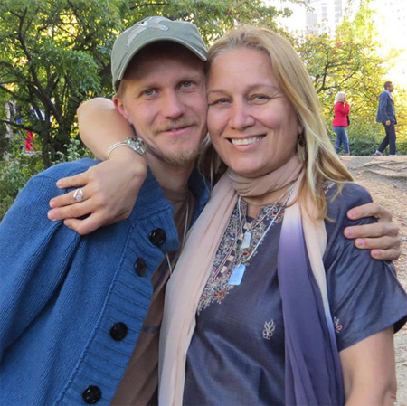 Blake Dyer & Susan at a reunion in Central Park, New York after a Teal Swan workshop.