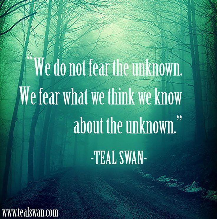 fear the unknown